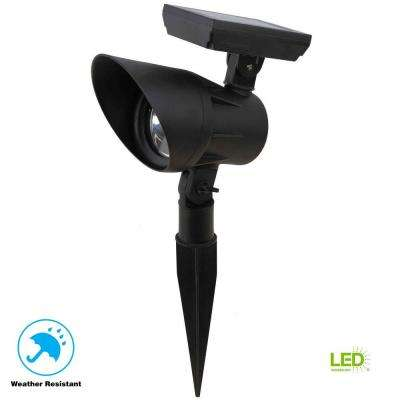 Open Stock Solar Black Outdoor Integrated LED Landscape Spot Light
