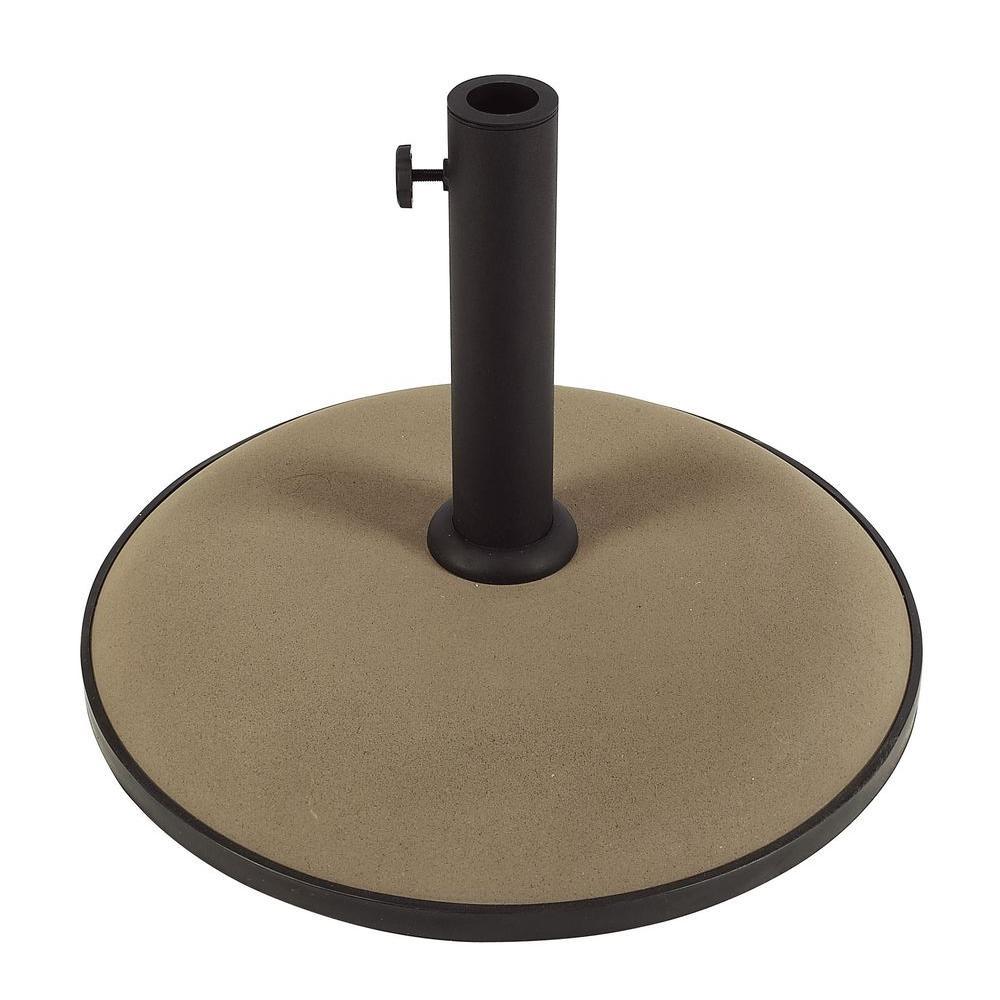 55 lb concrete patio umbrella base in champagne bronze
