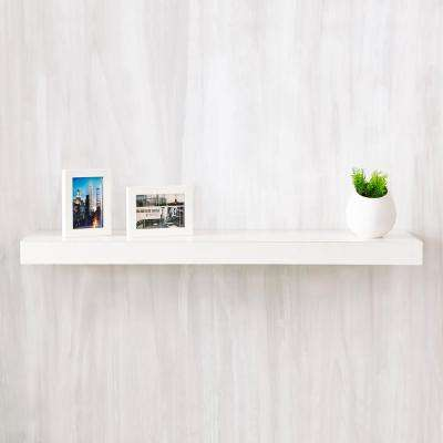 Positano 36 in. x 2 in. zBoard Paperboard Wall Shelf Decorative Floating Shelf in Natural White