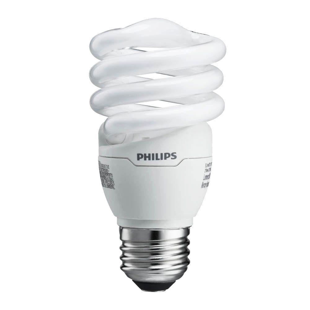 60W Equivalent Soft White T2 Spiral CFL Light Bulb (24-Pack)