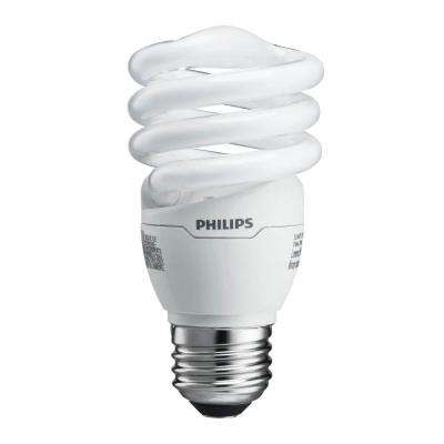 60W Equivalent Soft White T2 Spiral CFL Light Bulb (24-Pack)