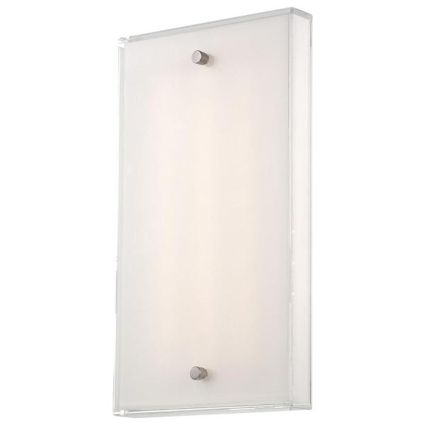 12-Watt Brushed Nickel Integrated LED Wall Sconce