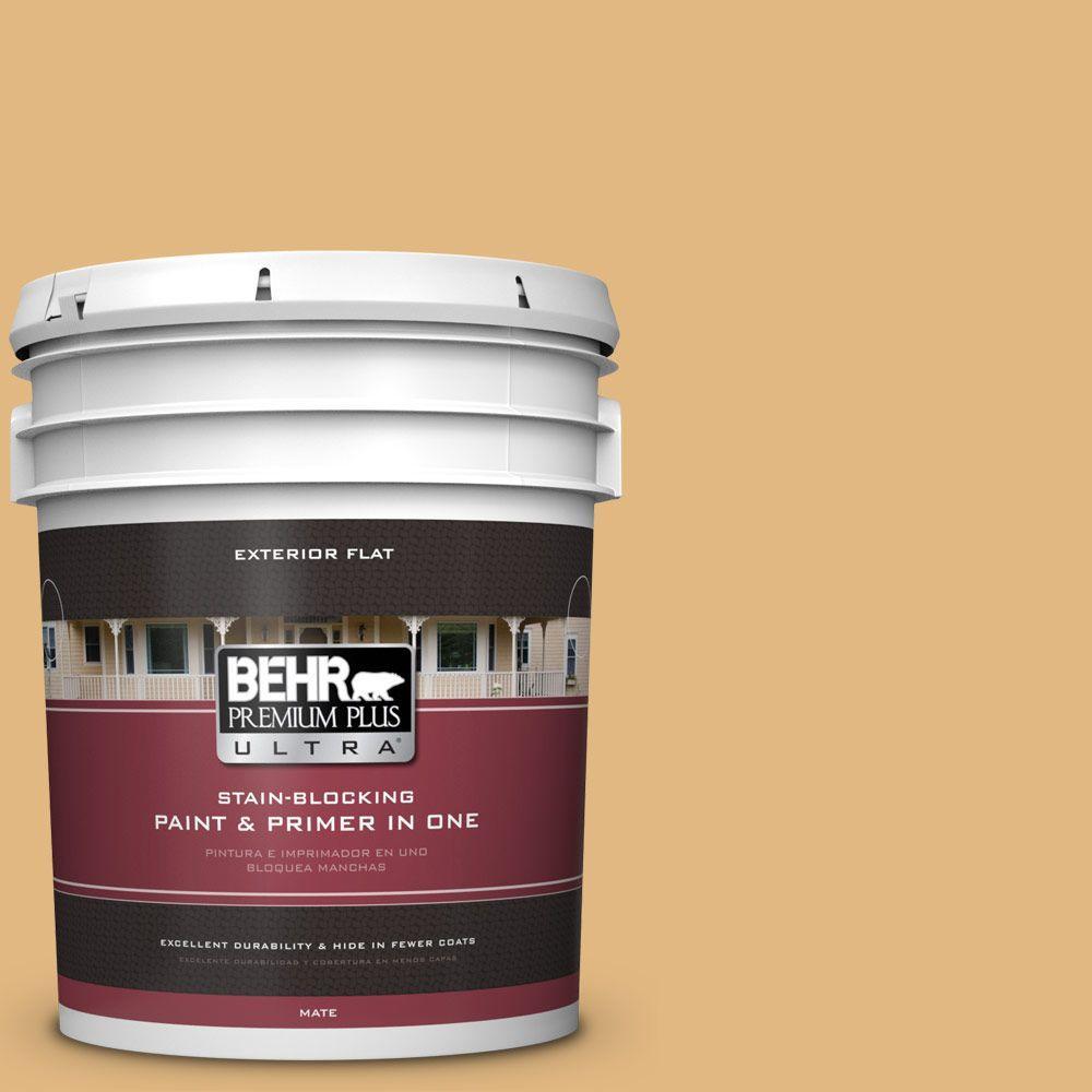 BEHR Premium Plus Ultra 5-gal. #M270-5 Beehive Flat Exterior Paint