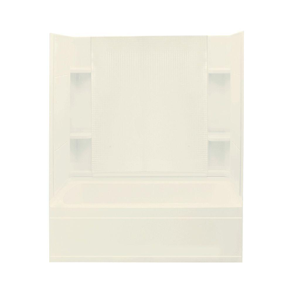 STERLING Accord 3.83 ft. Left-Hand Drain Bathtub in Biscuit