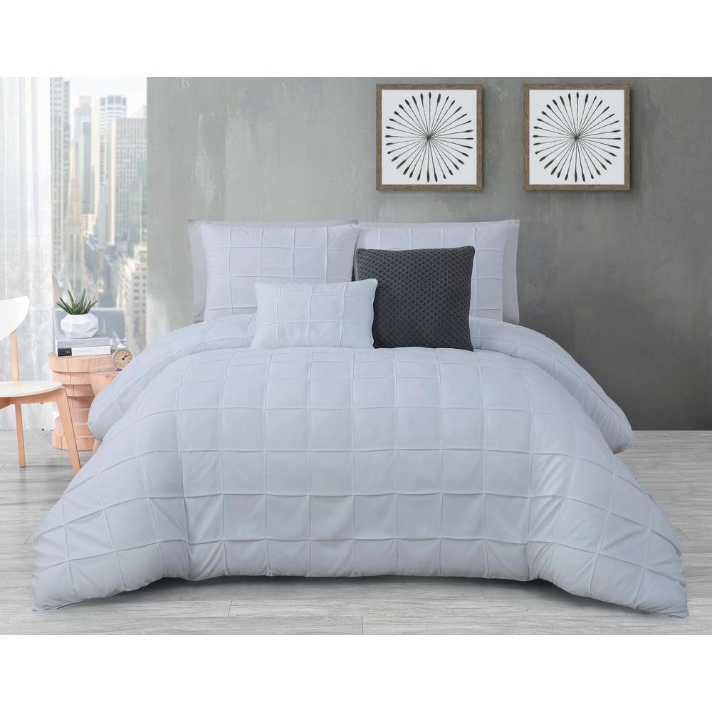 Madison 5-Piece White Queen Comforter Set