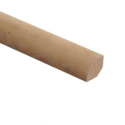 Ivory Travertine Tile 5/8 in. Thick x 3/4 in. Wide x 94 in. Length Vinyl Quarter Round Molding