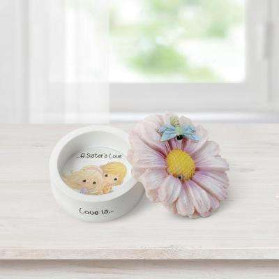 Tabletop Daisy Resin Trinket Box Love Is A Sister's Love