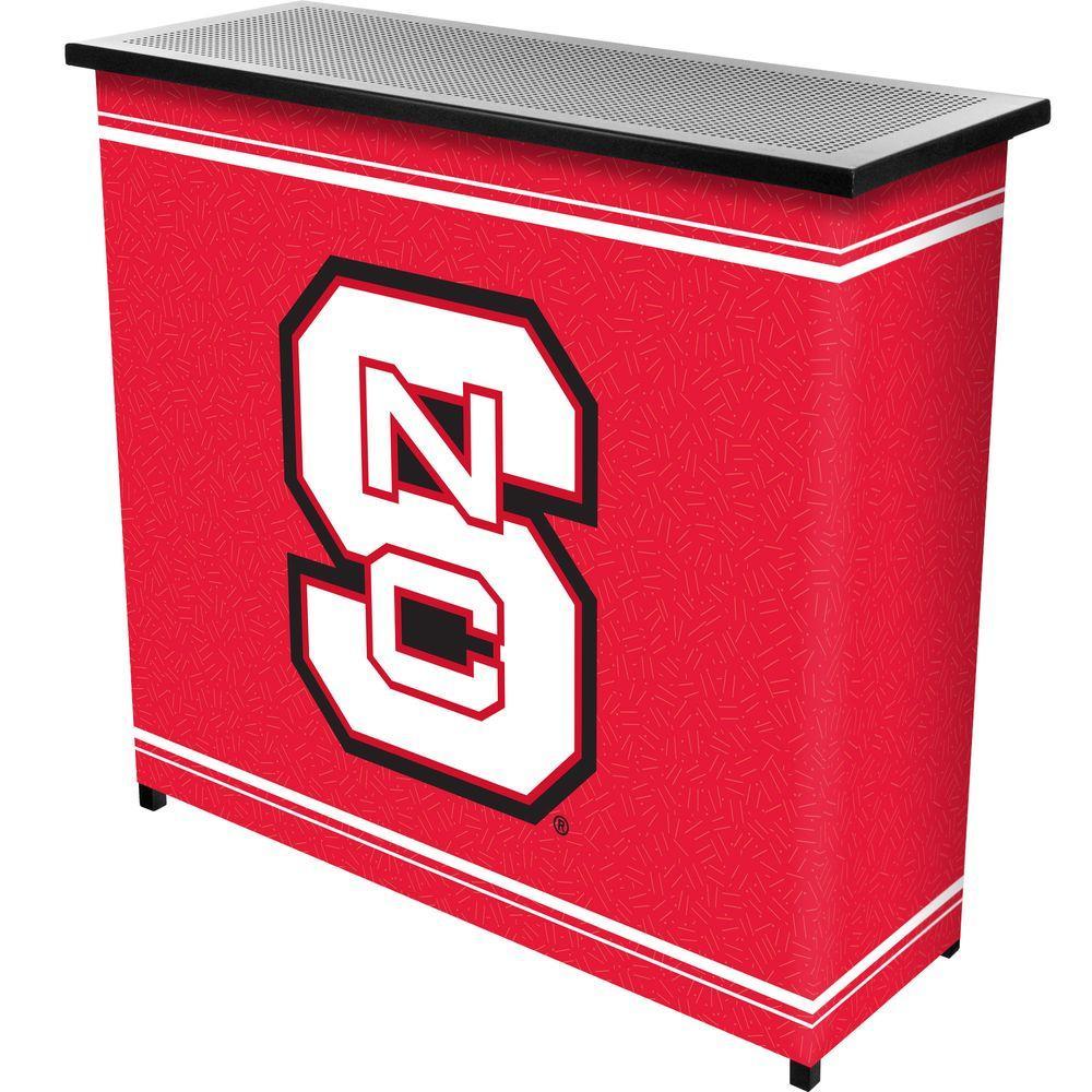 North Carolina State 2-Shelf Black Bar with Case
