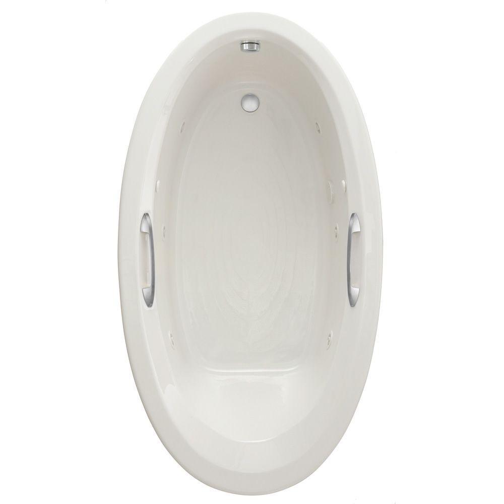 Brilliant American Standard Ellisse Oval Ecosilent 70 In X 39 In Whirlpool And Air Bath Tub In White Creativecarmelina Interior Chair Design Creativecarmelinacom