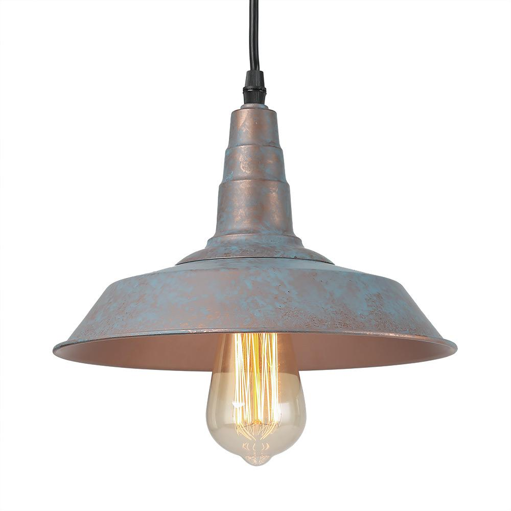 Lnc 1 Light Vintage Blue Rustic Barn Warehouse Pendant