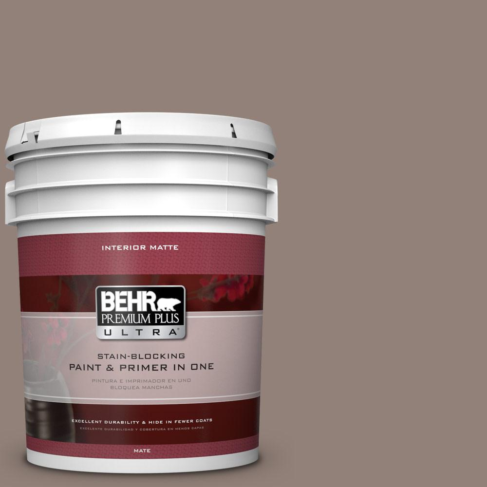 5 gal. #BNC-22 Chocolate Chiffon Matte Interior Paint