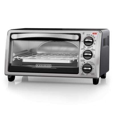 4-Slice Toaster Oven in Stainless Steel