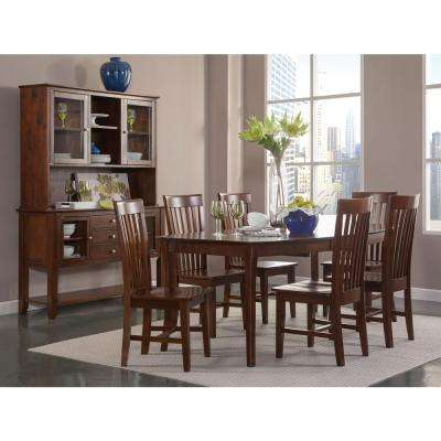 Tall Mission Espresso Dining Chair (Set of 2)