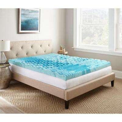 3 in. Full Gellux Gel Memory Foam Mattress Topper
