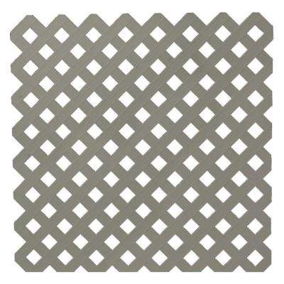 1/8 in. x 47-1/2 in. x 8 ft. Nantucket Gray Privacy Plastic Lattice