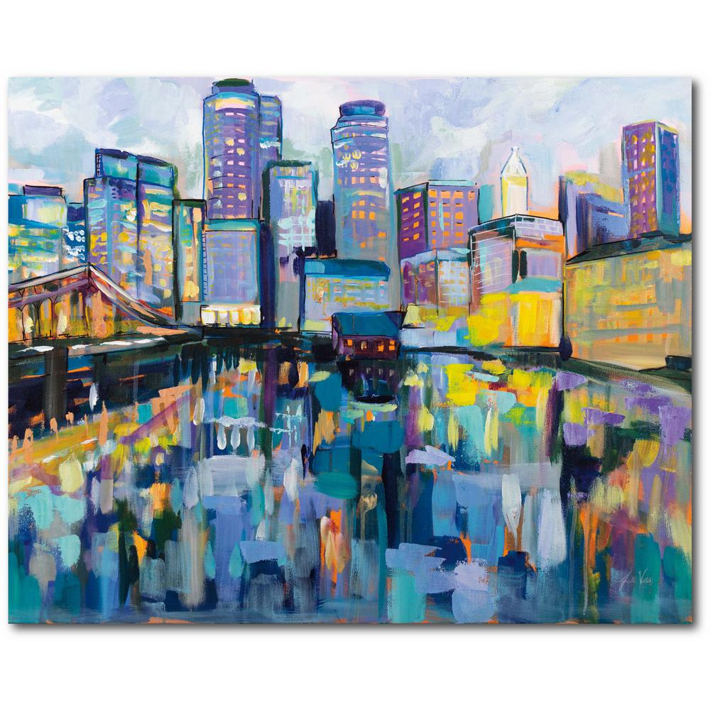 Courtside Market Boston Harbor Gallery-Wrapped Canvas Wall Art 20 in. x 16 in., Multi Color was $70.0 now $38.93 (44.0% off)