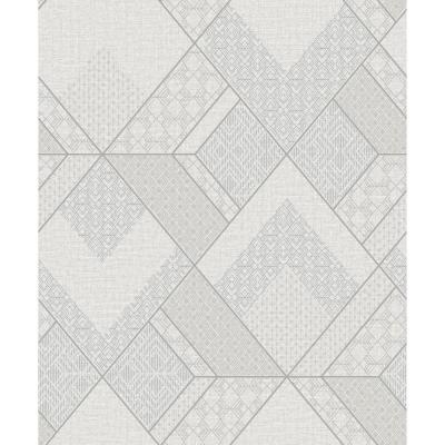 Castle White Geometric Wallpaper