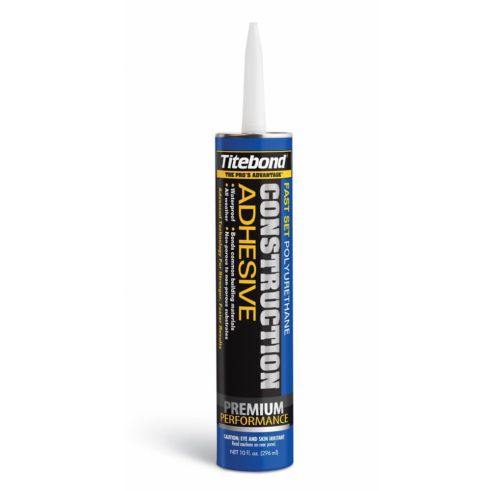 Titebond 10 oz. Fast Set Polyurethane Construction Adhesive (12-Pack)