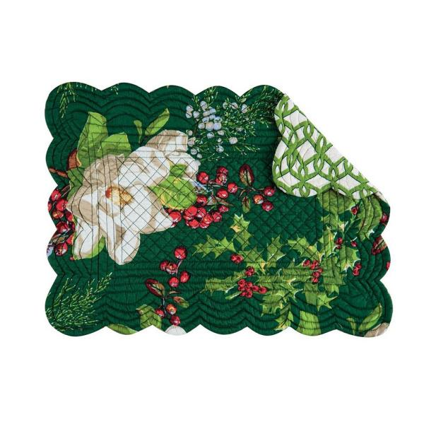 C&F HOME 13 in. x 19 in. Greens, Cotton Bristol Placemat