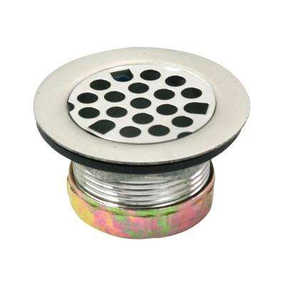 1-7/8 in. - 2-1/4 in Flat Stainless Steel RV Mobile Shower Strainer - Drain Assembly for Bar Sinks