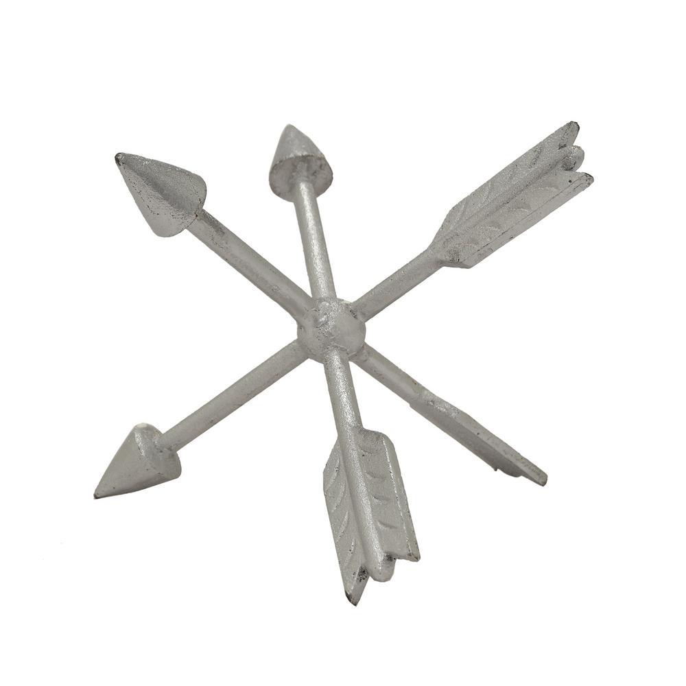 5.5 in. Silver Metal Arrow Table Top