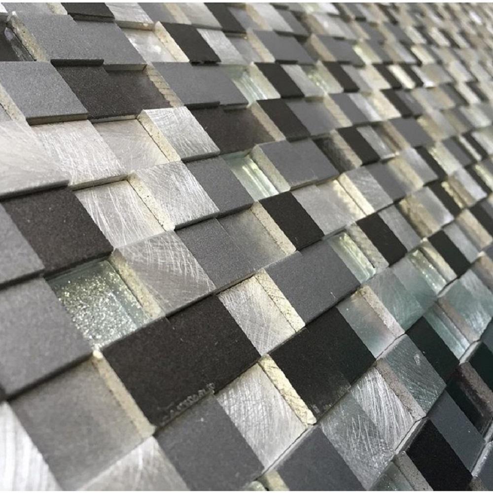 Urban Skyscraper 12 in. x 12 in. x 8 mm Metal Mosaic Tile