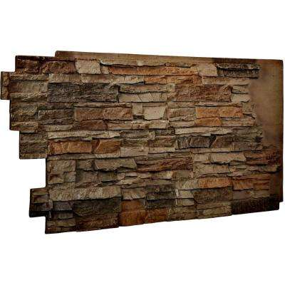 1-1/2 in. x 48 in. x 25 in. Terrastone Urethane Stacked Stone Wall Panel