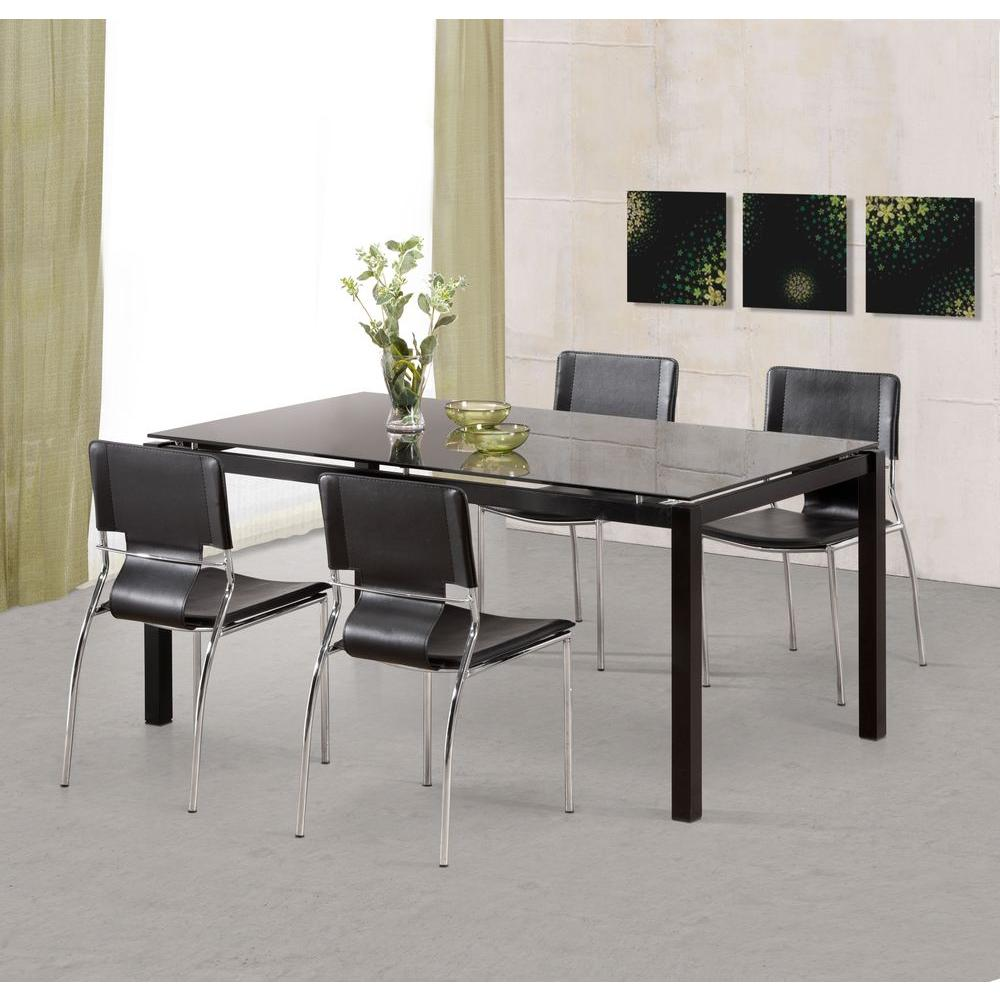 Zuo Trafico Black Dining Chair Set Of 4