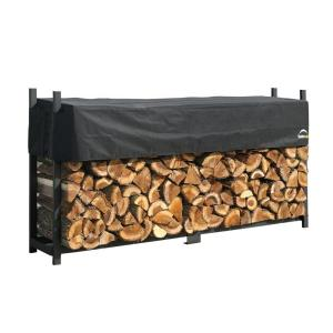 ShelterLogic 8 ft. Firewood Rack with Cover-90402 - The Home Depot