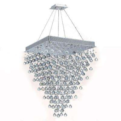 Icicle 10-Light Chrome with Clear Crystal Chandelier