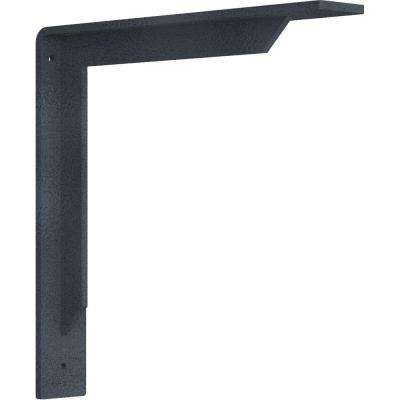 2 in. x 12 in. x 12 in. Steel Hammered Gray Stockport Bracket