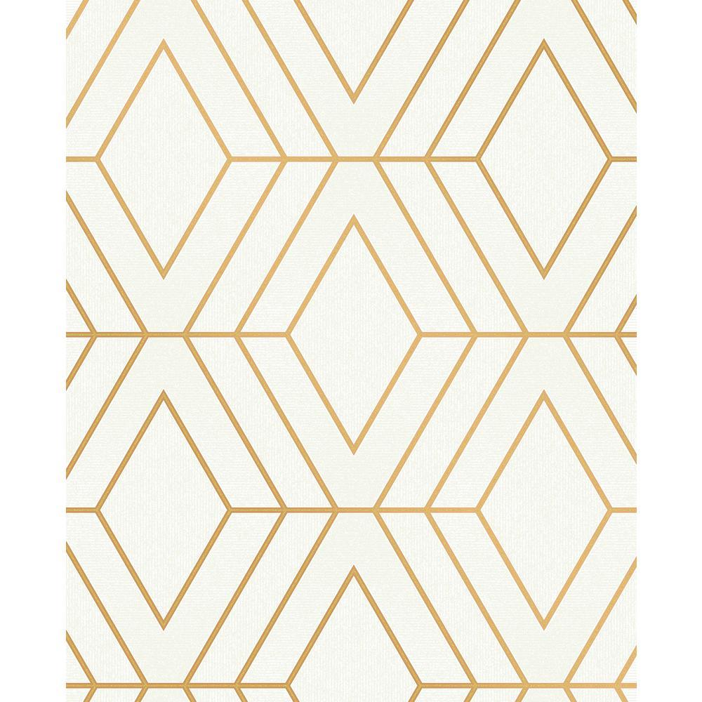 Advantage Adaline Off-white Geometric Wallpaper Sample