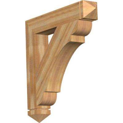 6 in. x 38 in. x 38 in. Western Red Cedar Olympic Arts and Crafts Rough Sawn