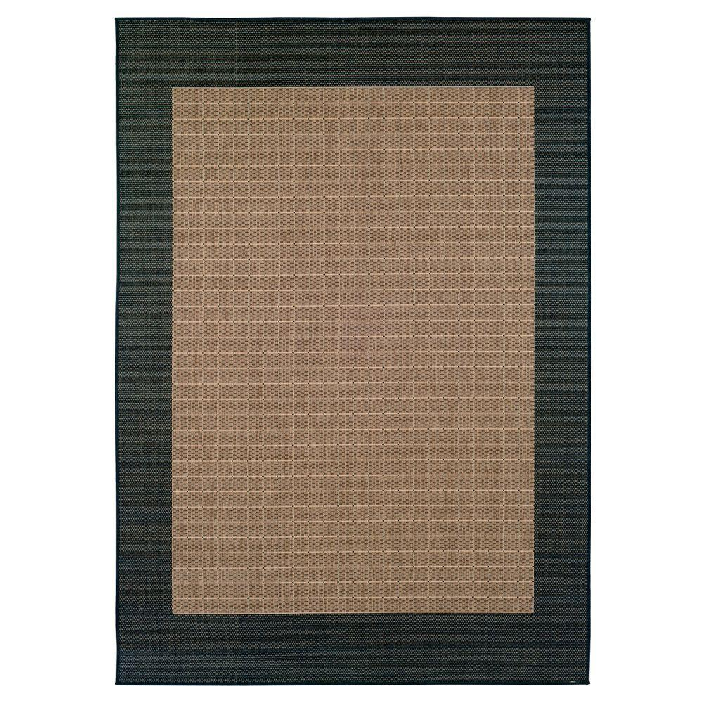 Checkered Field Cocoa 1 ft. 8 in. x 3 ft. 7
