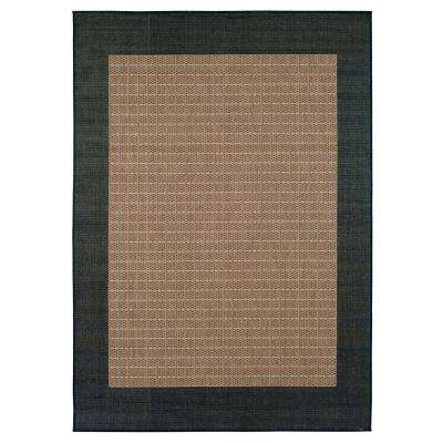 Checkered Field Cocoa 5 ft. 9 in. x 9 ft. 2 in. Area Rug