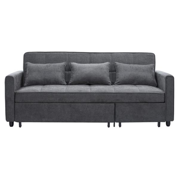 Magnificent Relax A Lounger Skylar Pullout Grey King Sized Sofa Skylar Caraccident5 Cool Chair Designs And Ideas Caraccident5Info