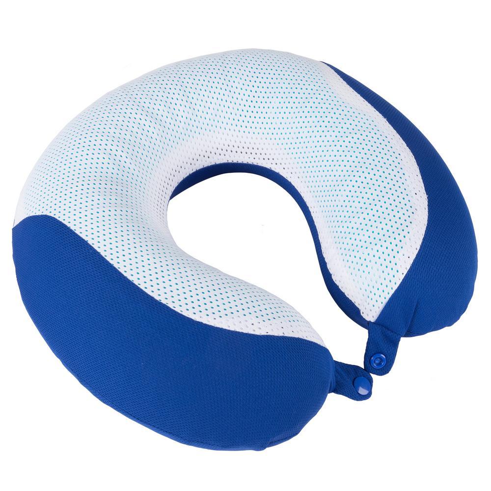 Blue Neck Gel Memory Foam Neck Travel Pillow