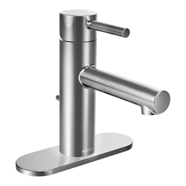 Moen 6190 Align One-Handle High-Arc Bathroom Faucet with Drain Assembly Chrome