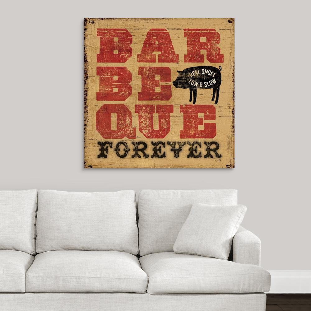 """Barbeque Forever"" by Great BIG Canvas Canvas Wall Art"