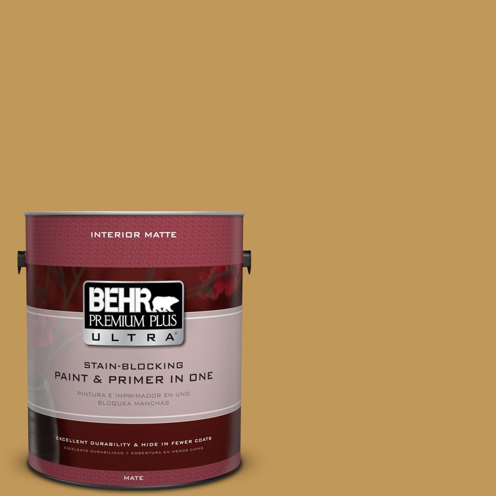 1 gal. #330D-6 Townhouse Tan Flat/Matte Interior Paint