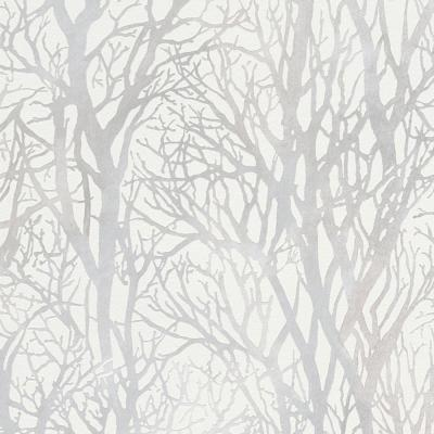 Life Series Trees - White and Pearl Wallpaper