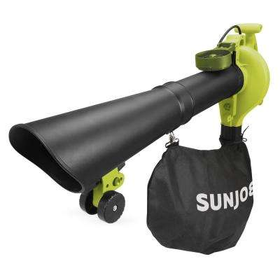 250 MPH 440 CFM 14-Amp Electric Handheld Blower, Vacuum and Mulcher with Gutter Attachement