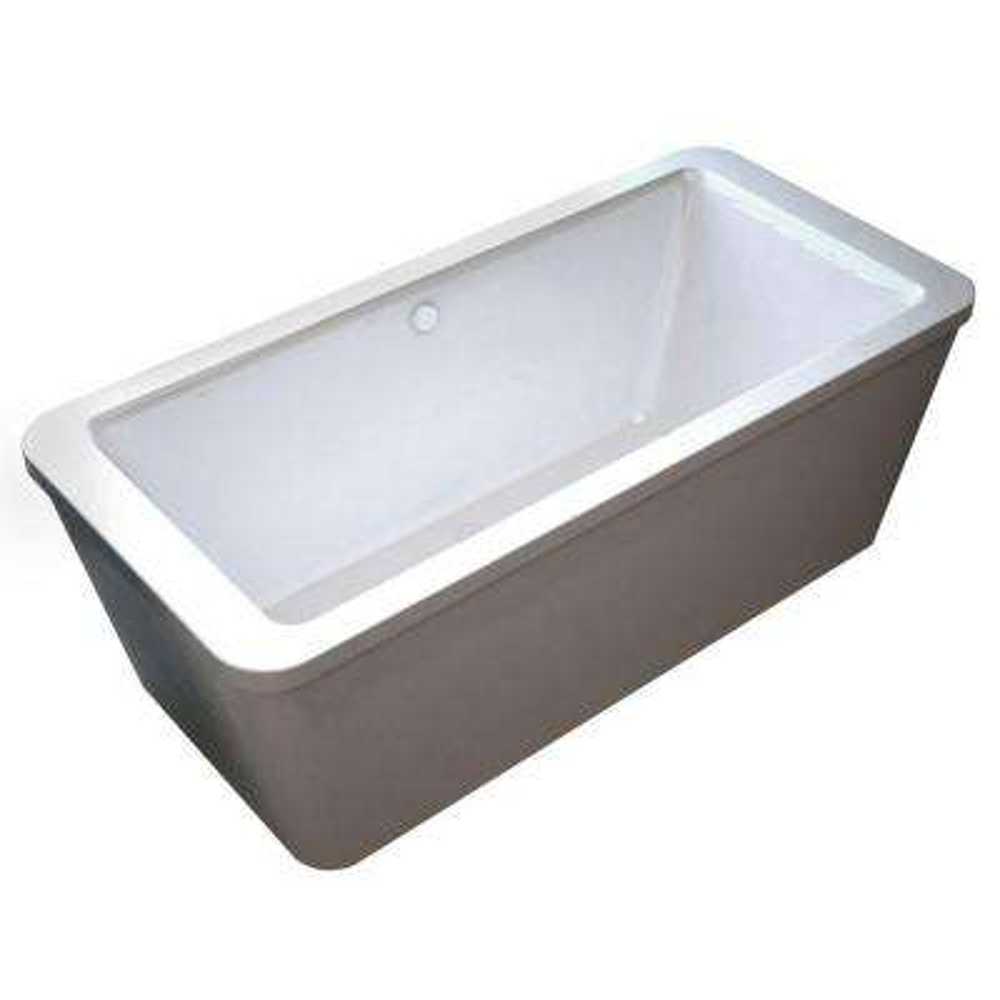 Carnel 5.6 ft. Acrylic Center Drain Rectangular Bathtub in White