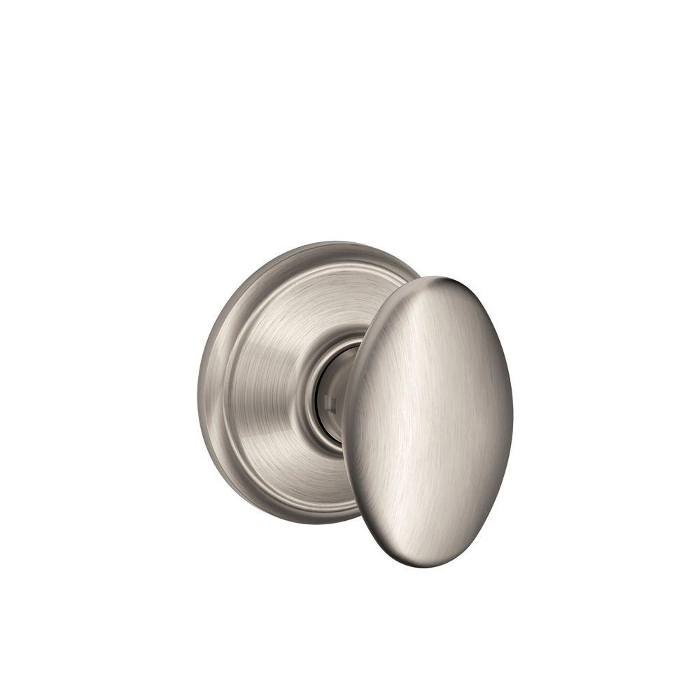 Superbe Schlage Siena Satin Nickel Passage Hall/Closet Door Knob