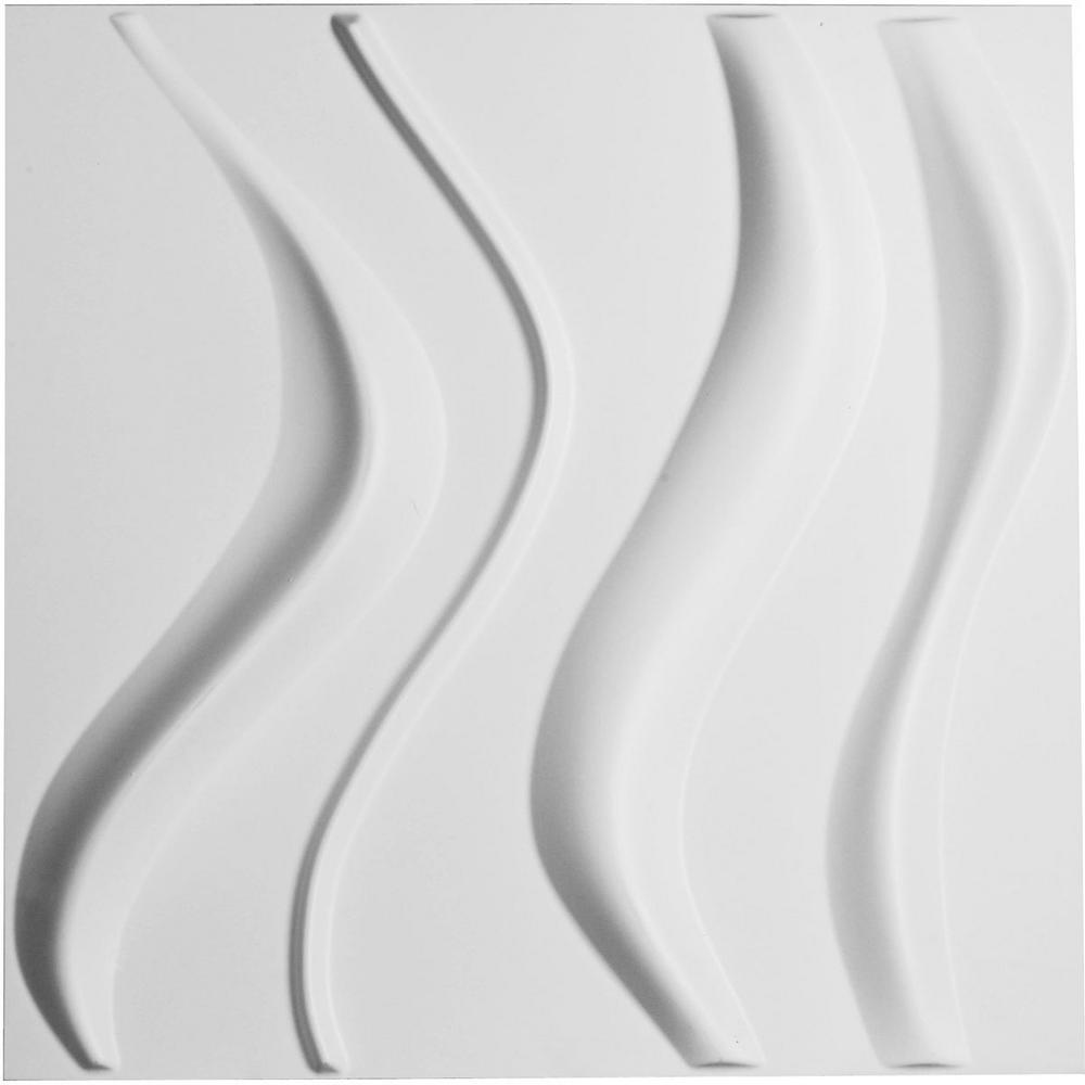 1 in. x 19-5/8 in. x 19-5/8 in. PVC White Wave
