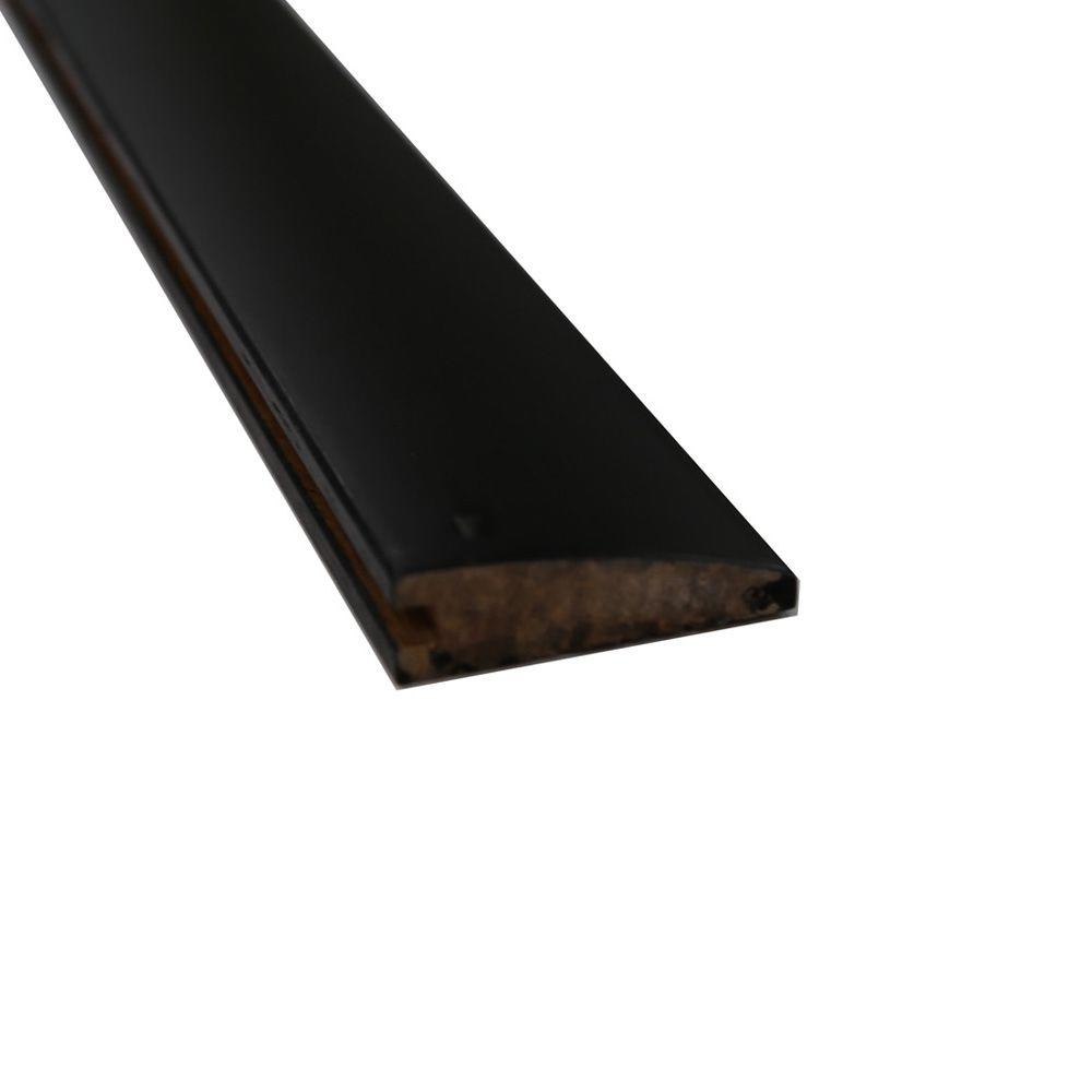 Stained Ebony 9/16 in. Thick x 2 in. Wide x 72-3/4