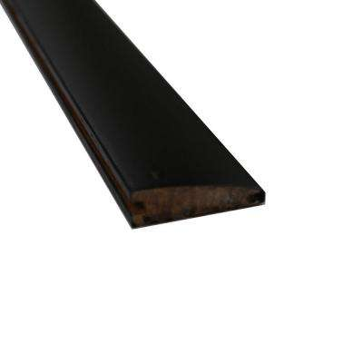 Stained Ebony 9/16 in. Thick x 2 in. Wide x 72-3/4 in. Length Strand Bamboo Reducer Molding