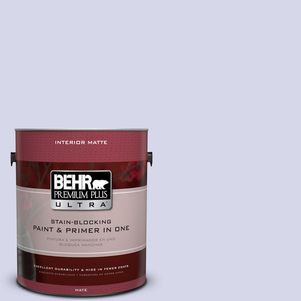 BEHR Premium Plus Ultra 1 gal. #T12-17 Violet Water Matte Interior Paint and Primer in One