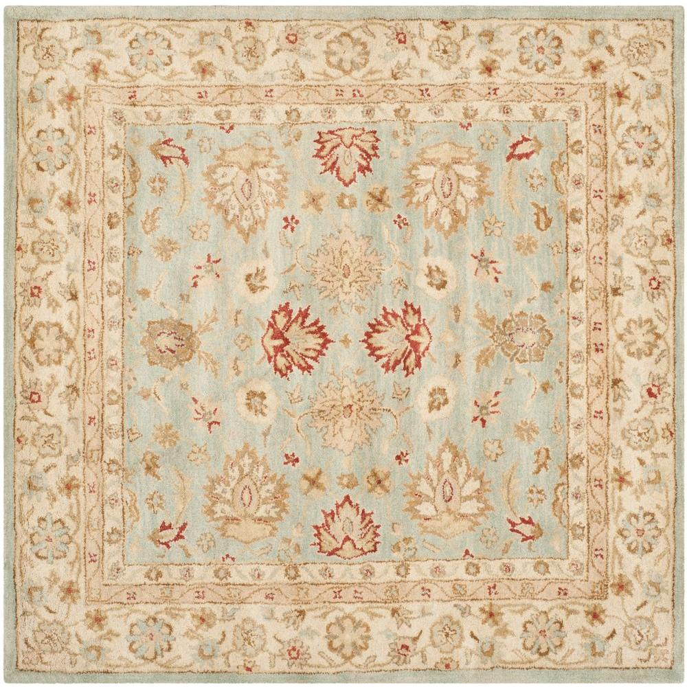 Antiquity Grey Blue/Beige 4 ft. x 4 ft. Square Area Rug