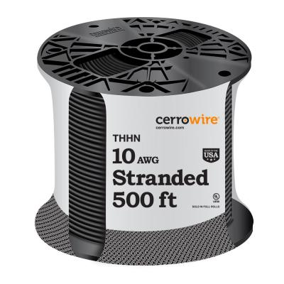 500 ft. 10/1 Black Stranded THHN Wire